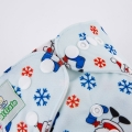 Baby' Reusable Happy Santa Cloth Diaper with Micro-fiber Insert