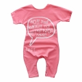Baby Girl's Wordy Printed Cotton Bodysuit in Pink