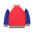 Kid's Cotton Top Color-Contrasting Jacket/Top in Red (Unisex)
