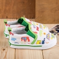 Kid's Cute Cars Patterned Canvas Soft Anti-skid Shoes