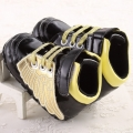 Baby's Gold Wings Decorated Soft Anti-skid Toddler shoes in Black
