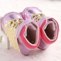 Baby's Gold Wings Decorated Soft Anti-skid Toddler shoes in Pink