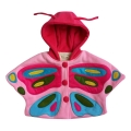Infant/Baby Girl's Hooded Oh-So Sweet Butterfly Poncho in Pink