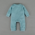 Infant/Toddler's Tittering Kitty Graphic Jumpsuit & Hat Set in Teal (Unisex)