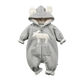 Infant/Toddler's Super Warm Cute Sheep Patterned Jumpsuit in Grey (Unisex)