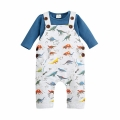 Baby/Toddler's Cotton Long-Sleeve Tee/Top & Dinosaur Overalls Set (2pc-set)