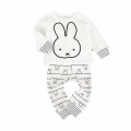 Baby/Toddler's Cotton Cute Rabbit Long-Sleeve Tee & High-Waist Pants Set (2pc-set)