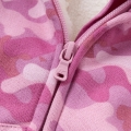 Toddler/Girl's Boutique Camo Zip-Up Plush-Lined Hooded Coat