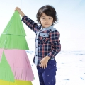 Toddler/Boy's Cotton Classic Plaid Long-Sleeve Button-Up Shirt/Top