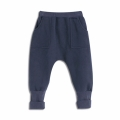 Baby/Toddler Boy's Fleece Ribbed-Cuff Harem Pants in Navy