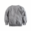 Toddler/Boy's Pom-Pom Beanie Detailed Monkey Sweater in Grey