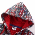 Toddler/Boy's Appliqué Detailed Zip-Up Hooded Jacket in Red