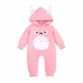 Infant/Toddler's Cute Totoro Hooded Jumpsuit in Pink (Unisex)