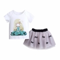 Baby/Toddler Girl's Pretty Girl Tee & Bow-Accent Skirt Set (2pc-set)