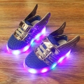 Toddler's Winged Soft Soled Light-Up Shoes in Blue