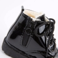 Winter Waterproof Plush Lined Boots in Solid Black for Baby Unisex