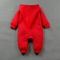 Infant/Toddler's Snap-Up Hooded Jumpsuit in Red