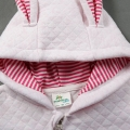 Infant/Toddler's Hooded Zip-Up Jumpsuit with 3D Ears in Pink