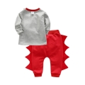 Baby's Cotton Dinosaur Long-Sleeve Pullover & Pants Set (2pc-set)