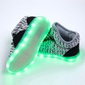 Cool Kids Fashion Light Up Luminous Color Changing LED Shoes in Gray for Kids