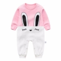 Little Rabbit Color Block Jumpsuit for Baby Girl