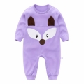 Whimsical Fox Baby Jumpsuit in Purple