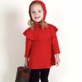 Baby/Toddler Girl's Ruffle Knitted Cutout Dress & Beanie Set in Red