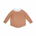 Baby Girl/Girl's Sweet Long-Sleeve Knitted Bodysuit in Khaki
