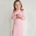 Baby Girl/Girl's Cotton Knitted Cheongsam Dress in Pink