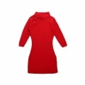 Baby Girl/Girl's Cotton Knitted Cheongsam Dress in Red