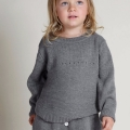 Baby Girl/Girl's Super Cute Bunny Knitted Sweater in Grey