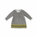 Baby Girl/Girl's Boho-Chic Knitted Dress in Grey