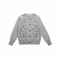 Baby Girl's/Girl's Sweet Embroidered Cotton Cardigan in Grey