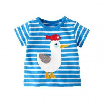 Appliqued Duck Striped Tee for Baby & Boys