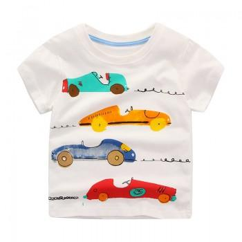 Car Graphic T-shirt for Toddler Boys