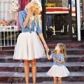 Precious Denim Shirt and Tutu Set Mom and Me Look