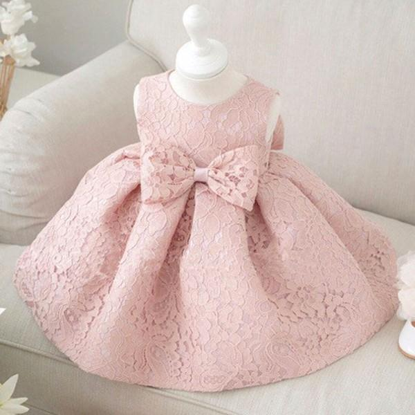 Oversize Bowknot Lace Princess Dress Party Dress for Baby and ...