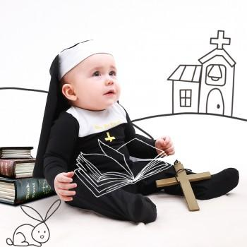 Pretty Nun Costume Jumpsuit with Hat for Baby and Toddler Girl