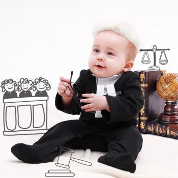 Handsome Lawyer Costume Jumpsuit with Hat for Baby and Toddler