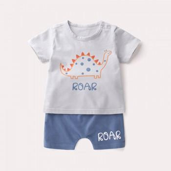 2-piece ROAR Dinosaur Top and Shorts Set for Baby Boy