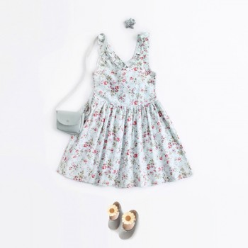 Pretty Sleeveless Floral Dress for Toddler Girl and Girl