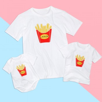 Daddy and Me French Fries Printed Matching Top