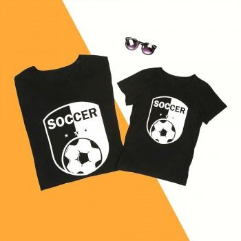 Daddy and Me Soccer Print Short-sleeve Matching Tee