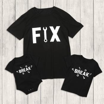 Daddy and Me Fun Break and Fix Matching Top in Black