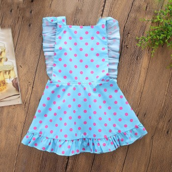 Trendy Dotted Backless Ruffled Dress for Baby Girl