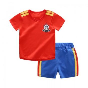2-piece Cool Short Sleeves Sports Set for Baby Boy