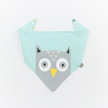 Cute Owl and Floral Print Bib for Baby