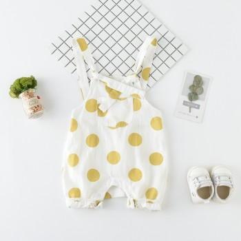 Cute Polka Dotted Overalls for Baby