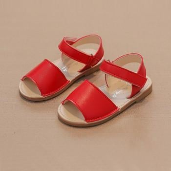 Pretty Solid Leather Sandals for Girls