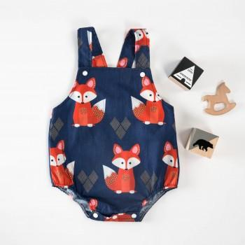 Fashionable Fox Pattern Strap Romper for Baby